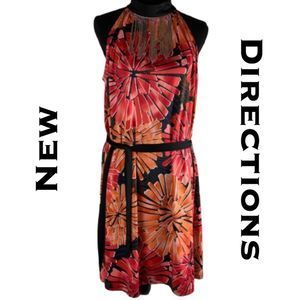 "New Directions Dress with ""Necklace"" Size L"